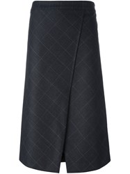 Brunello Cucinelli Jacquard Wrap Skirt Black