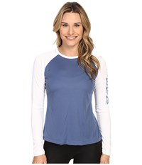 Columbia Tidal Tee Ii L S Bluebell White Women's Long Sleeve Pullover