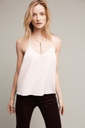 Anthropologie Aurora Lacy Camisole Pearl Blush