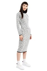 Esprit By Opening Ceremony Reversible Knit Dress Black Multi