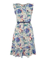 Therapy Faith Floral Print Belted Dress Multi Coloured
