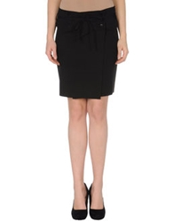 Almeria Knee Length Skirts Black