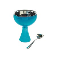 Alessi Big Love Bowl And Spoon Blue