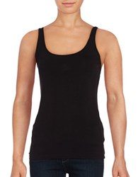Lord And Taylor Iconic Fit Slimming Tank Black