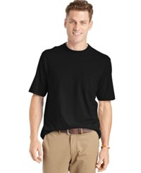 Izod Men's Big And Tall Solid Double Layer Jersey Pocket T Shirt Black