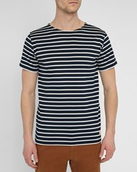 Armor Lux Blue Mercerised Sailor Stripe Top