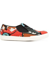 Marni Psychedelic Print Slip On Sneakers Multicolour