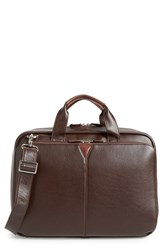 Men's Johnston And Murphy 'Slimline' Leather Briefcase Brown Dark Brown