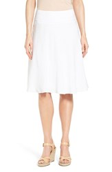 Women's Nic Zoe 'Summer Fling' Linen Blend Skirt Paper White