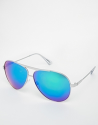 Jeepers Peepers Aviator Sunglasses Silver