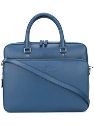 Salvatore Ferragamo Revival Briefcase Blue