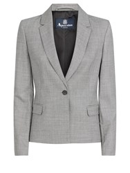 Aquascutum London Verne Geo Weave Jacket Grey