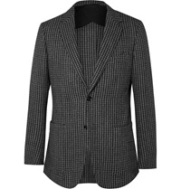 Dunhill Grey Fitzrovia Slim Fit Wool And Alpaca Blend Tweed Blazer Gray