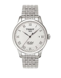 Tissot Mens Le Locle Automatic Stainless Steel Watch Silver