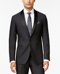 Ryan Seacrest Distinction Slim Fit Gray Textured Shawl Lapel Tuxedo Jacket Only At Macy's Grey