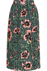 Matthew Williamson Floral Print Silk Midi Skirt