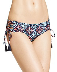Michael Michael Kors Shirred Bikini Bottom Turquoise