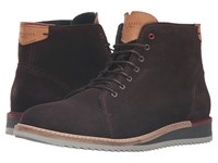 Ted Baker Odaire Dark Brown Waxed Suede Men's Shoes