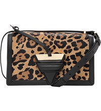 Loewe Barcelona Leopard Print Leather Shoulder Bag