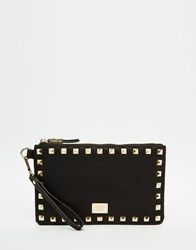 Marc B Suzi Studded Clutch Bag Black