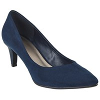 John Lewis Almia Pointed Toe Court Shoes Navy