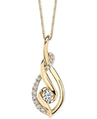 Macy's Sirena Diamond Spiral Pendant Necklace 1 3 Ct. T.W. In 14K Gold Yellow Gold