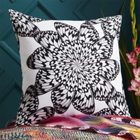 Cb2 Butterfly Wheel Black And White 20 Pillow With Feather Insert