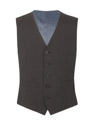 Racing Green Barnes Puppytooth Tailored Waistcoat Grey