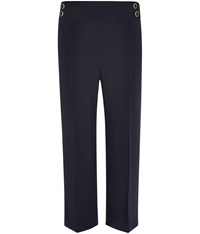 Cc Cropped Tailored Trousers Navy