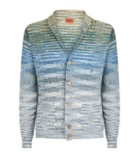 Missoni Ombre Knitted Cardigan Male Blue