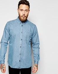 Dr. Denim Dr Denim Mick Regular Denim Shirt Light Wash Blue Light Wash Blue
