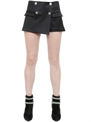 Pierre Balmain Cotton And Viscose Blend Satin Skort