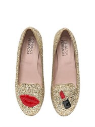 Chiara Ferragni 10Mm Make Up Glitter Loafers