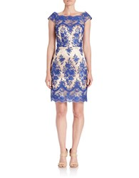 Decode 1.8 Cap Sleeve Lace Sheath Dress Royal Nude