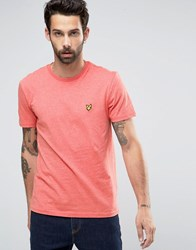Lyle And Scott T Shirt With Eagle Logo In Red Terracotta Mar