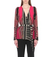 Etro Paisley Print Silk Top Cherry