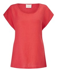 East Combination Linen Top Red