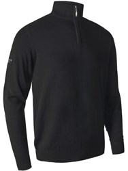 Glenmuir Cashmere Zip Neck Jumper Black