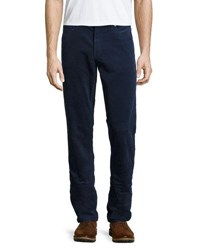 Michael Kors Corduroy Straight Leg Pants Dark Blue