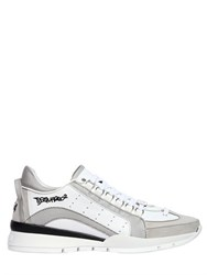 Dsquared Textured Leather Sneakers