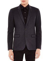 Sandro Structured Knit Blazer Anthracite