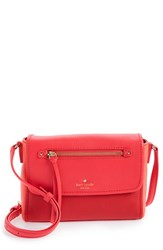 Kate Spade New York 'Cobble Hill Mini Toddy' Leather Crossbody Bag Red Crab Red Parrot Feather