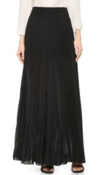 Alice Olivia Diora Wide Leg Pleated Pants Black