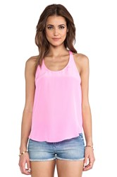 Rory Beca Yuna Open Back Tank Pink