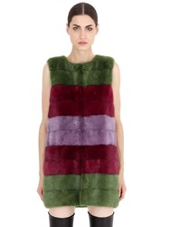 Simonetta Ravizza Limited Edition Striped Mink Fur Vest