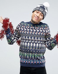 Asos Christmas Jumper With 12 Days Of Christmas Multi