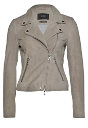 Set Leather Jacket Light Taupe Camel