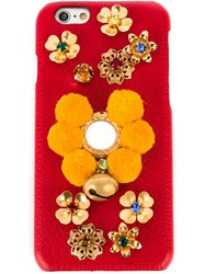 Dolce And Gabbana Embellished Iphone 6 Case Red