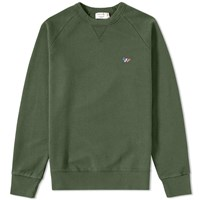 Maison Kitsune Tricolour Fox Crew Sweat Green
