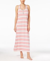 Tommy Hilfiger Henley Maxi Nightgown Summer Rugby Pink